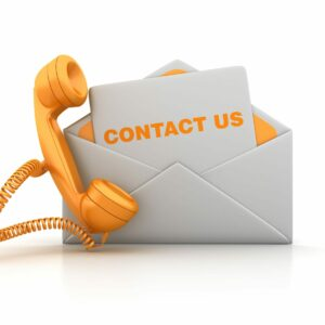 Contact Envelope with Phone - White Background - 3D Rendering